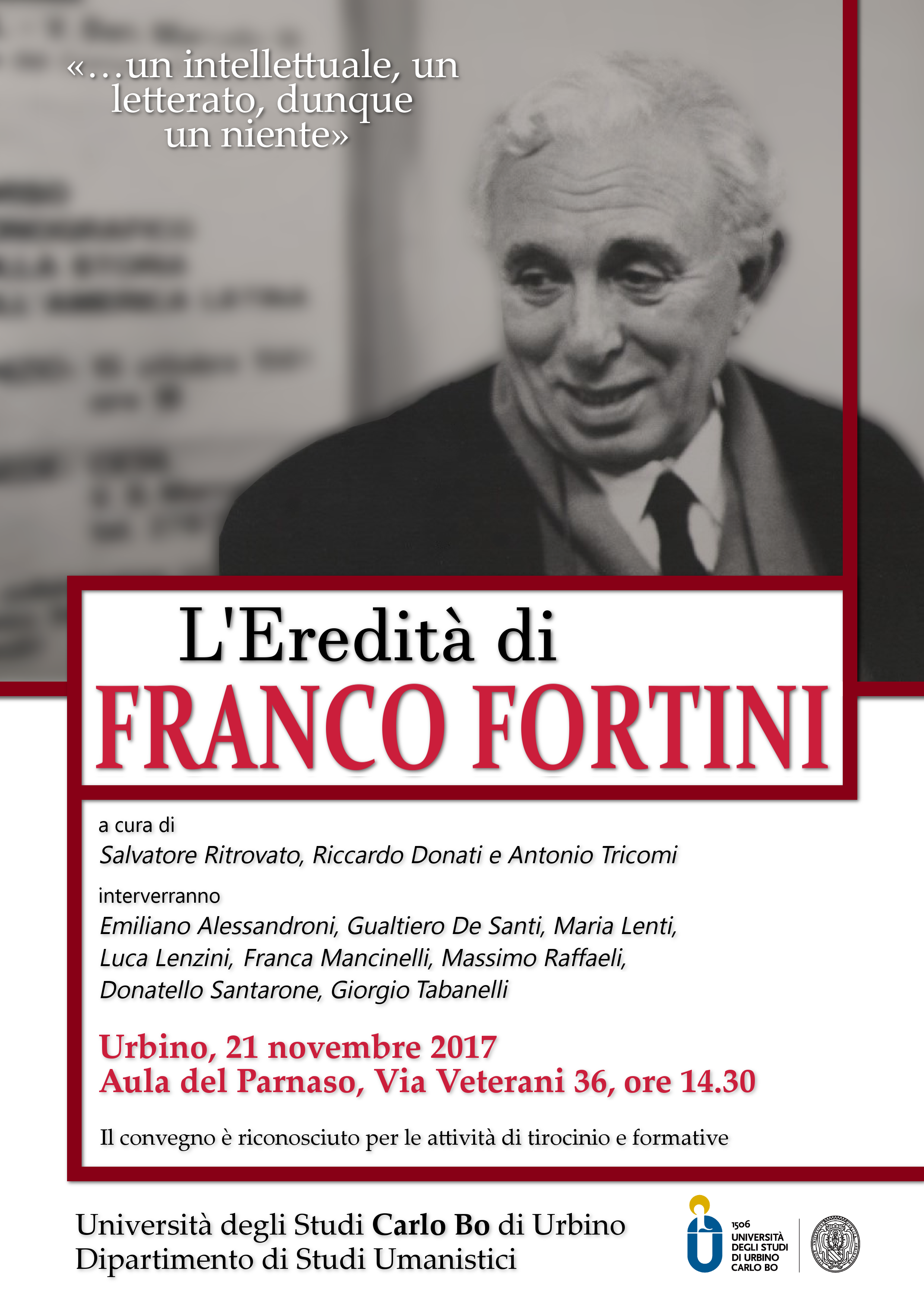 Convegno Urbino locandina